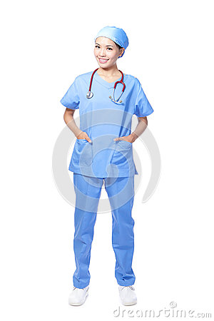Medical surgeon doctor woman