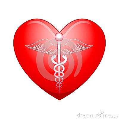 Medical symbol on Heart