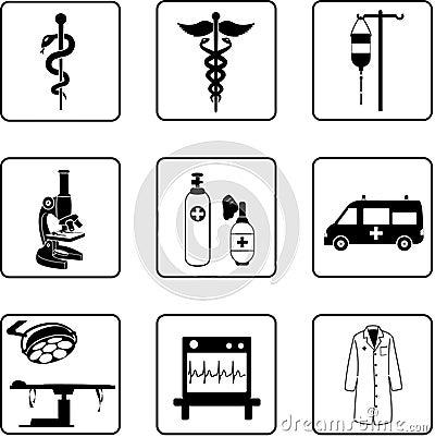 Free Medical Symbols And Equipment Royalty Free Stock Photos - 5576788