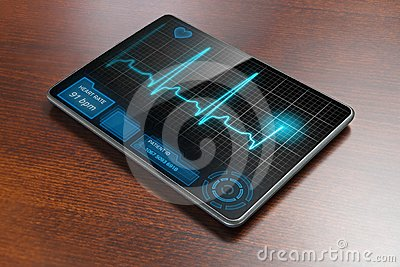 Medical tablet on table