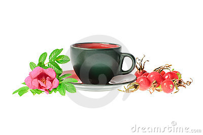 Medical tea with dog rose