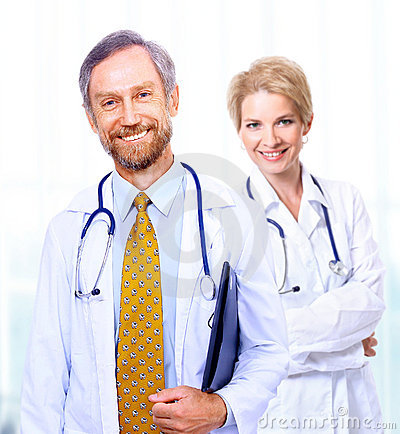A medical team of doctors