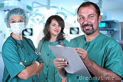 Medical team in a hospital