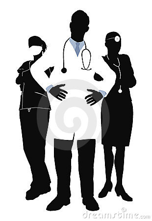 Medical team illustration