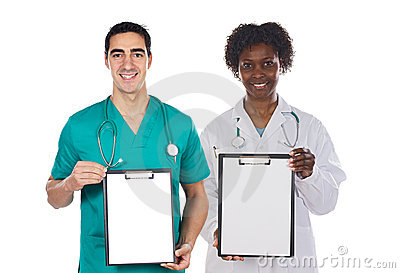 Medical team whit clipboard