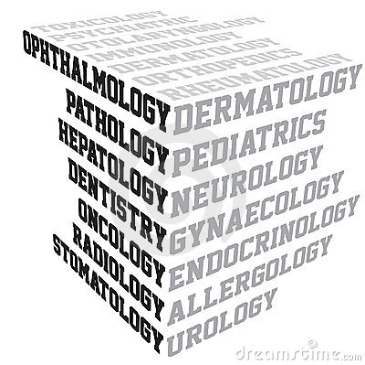 Medical terms typography