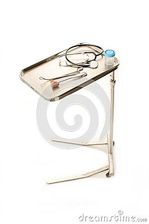 Medical tray on white