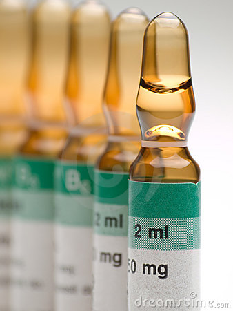 Medical vitamin ampules