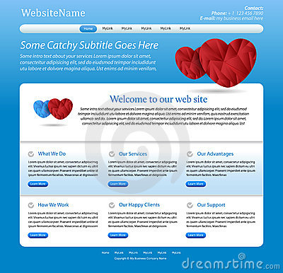 Medical website blue editable template