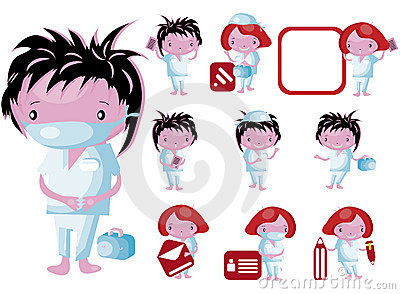 Medical website icons staff