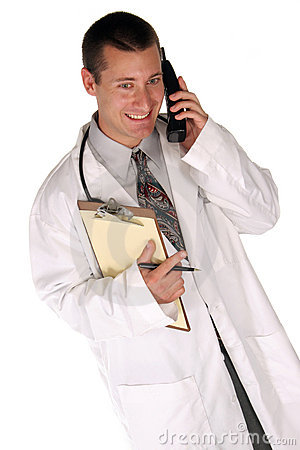 Medical worker helps you out over the phone
