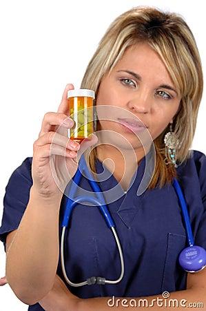 Medical Worker and Medicine