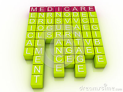 medicare word cloud concept royalty free stock photo