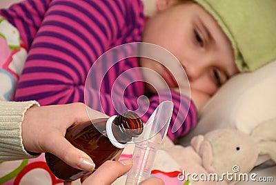 Medication for sick little girl
