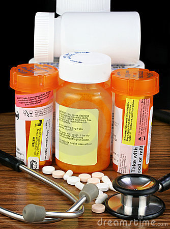 Medications with warning labels