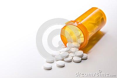Medicina de la aspirina con la botella