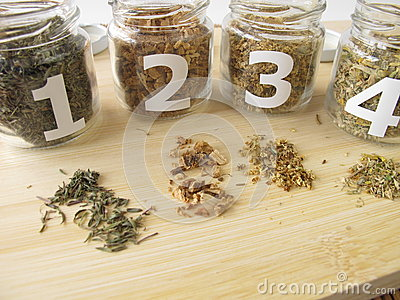 Medicinal herbs samples