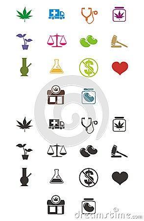 Free Medicinal Marijuana Icon Royalty Free Stock Photography - 32679807