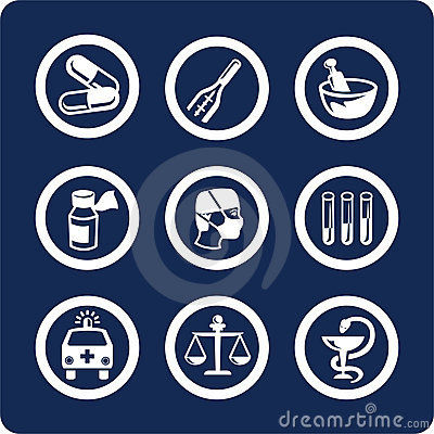 Free Medicine And Health Icons (set 6, Part 1) Stock Photos - 401393