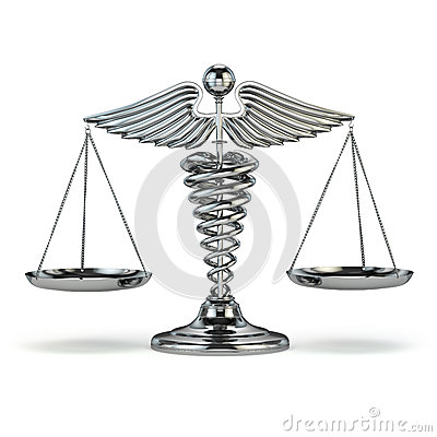 Free Medicine And Justice. Caduceus Symbol As Scales. Conceptual Imag Stock Image - 47129971
