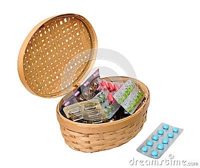 Medicine in basket