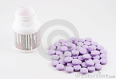 Medicine bottle and tablets