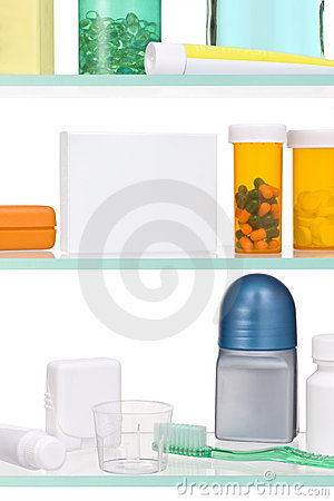 Free Medicine Cabinet Pills Tablets  Stock Images - 8762644