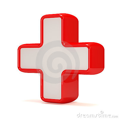 Medicine Cross on white background