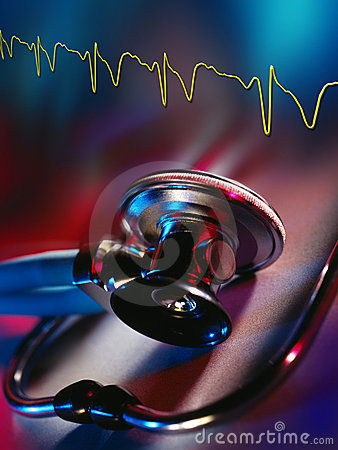 Medicine - Doctors Stethoscope and Heart Trace