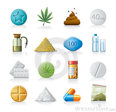 Medicine or drug icons