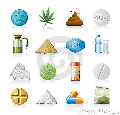 Medicine or drug icons