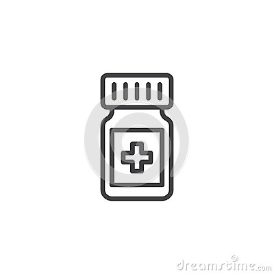 Medicine drugs line icon Vector Illustration