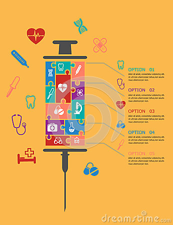 Medicine and healthcare infographic