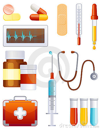 Free Medicine Icon Set Stock Image - 7366011