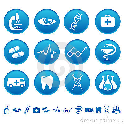 Free Medicine Icons Royalty Free Stock Image - 8458436
