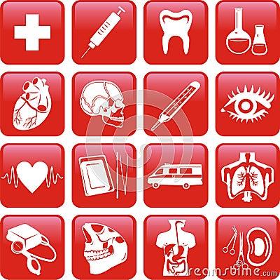 Medicine. Icons set.