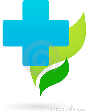 Medicine and nature icon / logo