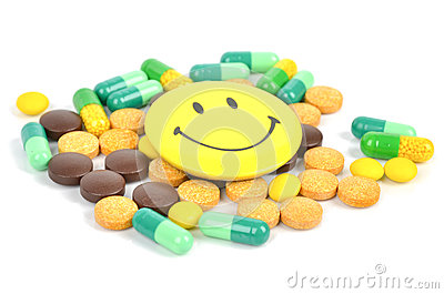 Medicine and smile face