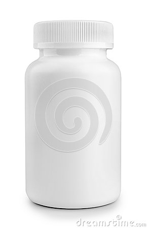 Free Medicine White Pill Bottle Isolated On White Background Royalty Free Stock Images - 42295029