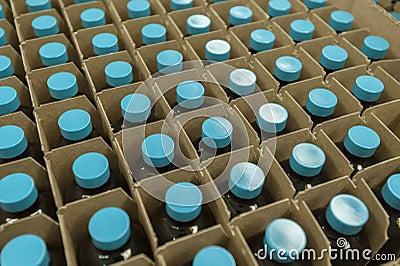 Medicinen buteljerar