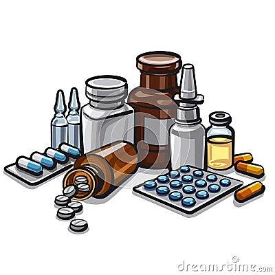 Free Medicines Royalty Free Stock Photos - 37768818