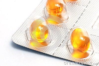 Medicines in closeup