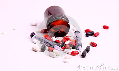 Medicines and syringes
