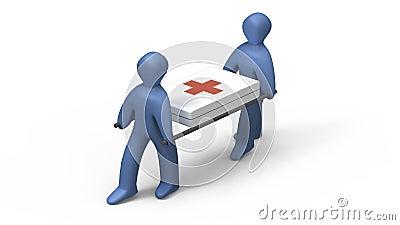 Medics Holding Stretcher