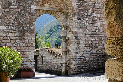 Medieval Archway, Assisi, Italy