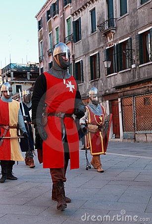 Medieval army Editorial Stock Photo