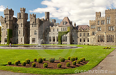 Medieval Ashford castle and gardens - Co. Mayo - I