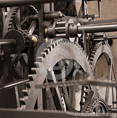 Medieval astronomical clock gearing - interior