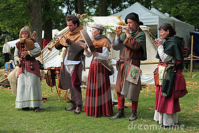 Medieval band Editorial Stock Photo