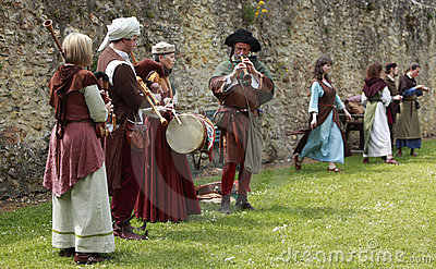 Medieval band Editorial Photography